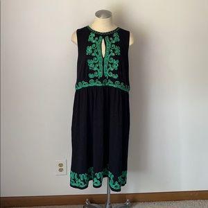 INC Black Ribbon Sleeveless Dress